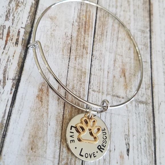 """89635989cc2 ⭐️3  25⭐ """"Live Love Rescue"""" bracelet"""